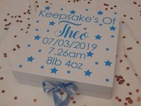 Baby Boy Or Girl Personalised Large Luxury Keepsake Gift Box